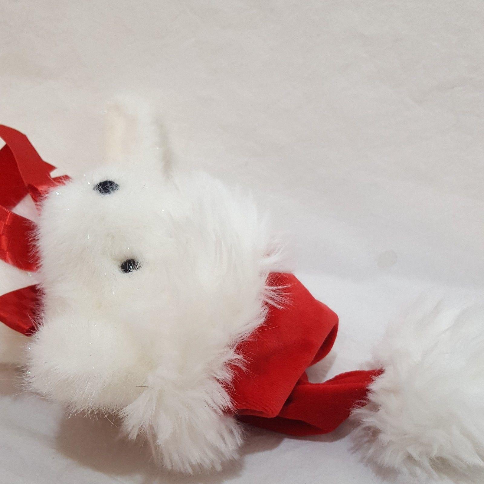 "White Santa Teddy Bear Christmas Stuffed Animal Plush Boyds Bears Red Hat 12"""