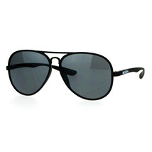 KUSH Sunglasses Unisex Thin Light Aviator Matted Flexible Frame UV 400 - $9.95