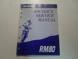 1994 Suzuki RM80 Owners Service Repair Shop Manual Faded Minor Wear Writing Oem - $21.34
