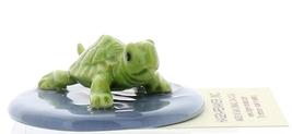 Hagen-Renaker Miniature Ceramic Turtle Figurine Green Mama Turtle on Pond image 4