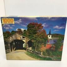 """Golden 1000 Piece Jigsaw Puzzle Waterville, VT  - 21 1/2"""" x 27 1/2""""  - $18.69"""