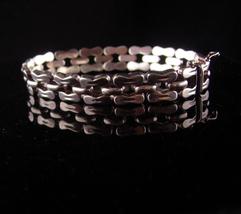 """Wide Sterling bracelet - mens womens -  Vintage Italy link bracelet - 7""""... - $135.00"""