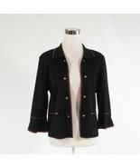 Black MING WANG open front bell sleeve jacket S - $74.99