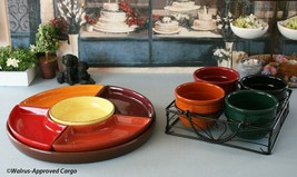 CERAMIC 6-PIECE SECTIONAL SNACK TRAY & 5-PIECE SNACK BOWL SET – EAT UP T... - $119.95