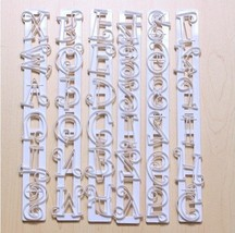 Autek 6pcs Alphabet Number Letter Fondant Cake Frill Edge Sugarcraft Cutter Mold