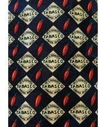 Tobasco Tie Silk Black Necktie Hot Sauce Novelty - $14.80