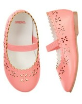 "NWT GYMBOREE GIRLS ""SNOWFLAKE GLAMOUR"" PINK CARNATION SHOES SIZES 03 & 10 - $12.99"