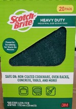 """3M SCOTCH BRITE HEAVY DUTY 6"""" X 9"""" SCOURING PADS BIG 20 PACK BOX - $13.92"""