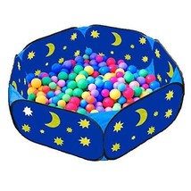 Eggsnow Kids Ball Pit Toddler Large Blue Baby Play with Zippered Storage... - $24.07