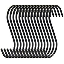 RuiLing Antistatic Coating Steel Hanging Hooks, Black, S-Shape, Pack of 15 image 1