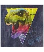 Jurassic World Dinosaur Lunch Napkins 16 Ct Birthday Party Supplies Desi... - $4.21