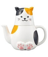 Funny eating utensils Tea For One Mika cat SAN 2525 japan - $75.26