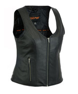 Women's Rider Vest Stylish Open Neck Motorcycle Vest Bike Daniel Smart B... - $89.95