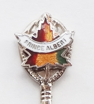 Collector Souvenir Spoon Canada Saskatchewan Prince Albert Maple Leaf - $6.99