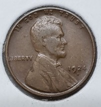 1924D LINCOLN PENNY 1¢ Cent Wheat Coin LOT# MZ 4790