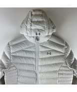 Womens Under Armour Goose Down Jacket Size LG Hoodie Storm White Pertex ... - $227.65