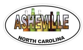 Asheville North Carolina Oval Bumper Sticker or Helmet Sticker D3700 Euro Oval - $1.39+