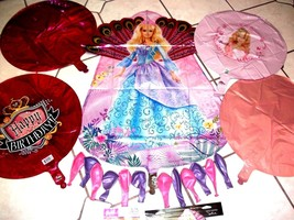 Big Barbie Doll Mylar With Latex Birthday Balloons Party Package Plus Fr... - $10.88