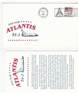 AND NOW ATLANTIS 51-J KENNEDY SPACE CENTER FL OCTOBER 3 1985 WITH INSERT... - £1.36 GBP