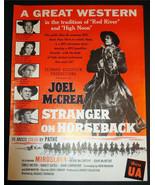 VERY RARE 1955 STRANGER ON HORSEBACK PROMOTIONAL WESTERN MOVIE AD JOEL M... - $28.93