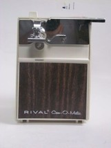 Rival Can-O-Matic vintage Almond Woodgrain can opener - $22.65