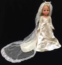 Velvet Crissy Doll Blonde Hair Blue Eyes Wedding Dress Ideal Toy Co Hair... - $21.77