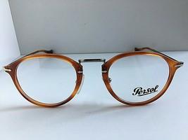 New Persol 3046-V 96 49mm Rx Round Brown Men's Eyeglasses Frame Italy - $219.99
