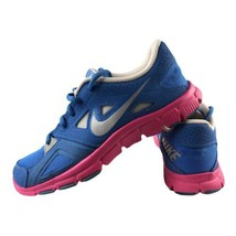 Nike Flex Training Sneakers Girls Youth Size U.S. 6 Blue ,Pink ,Gray Lac... - $37.61