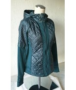 Athleta Abyss Green Rock Springs Midweight Quilted Hooded Jacket - Women... - $71.20