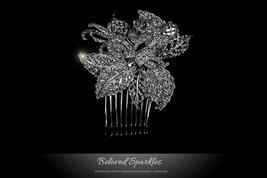 Heidi Bejeweled Leaves Cluster Hair Comb | Swarovski Crystal - $69.95