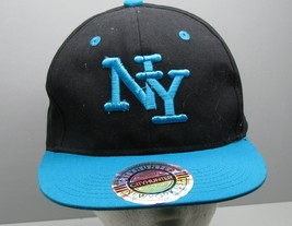 Baseball Cap City Hunter New York USA Black Turquoise Trucker Snap Back HAT - $9.89