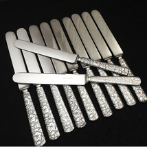 RARE - Reed & Barton BROCADE 1870 - 11pc Silverplate Blunt Solid Dinner ... - $99.00