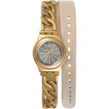 Swatch Women's YSG139 Irony Double ME Gold-Tone Stainless Steel Watch - $103.41
