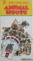 New Men's Animal House Funko Home Video VHS Boxed Short Sleeve Tee Exclusive NIB