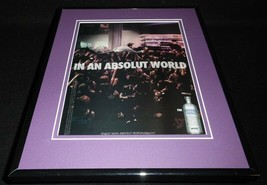 2008 In An Absolut World Vodka Framed 11x14 ORIGINAL Vintage Advertisement - $34.64