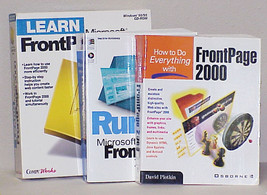 FrontPage 2000 - Boxed set w/CD from CompuWorks & 2 SC Instr Books 1999 & 2000 - $19.99