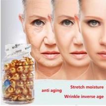 Gelatin Face Cream Anti Wrinkle Ageless Vitamin E Aloe Vera Extract 90 Capsules - $8.86