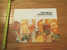 John Deere Tractor Finance Plans Dealer sales brochure - $14.99