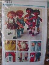 """Pattern (Used) Set of Rag Dolls - Zipper Button Tie Clothes 24"""" Tall - $5.00"""
