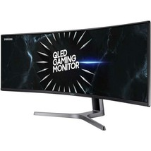 "Samsung 49"" CRG9 QLED Ultra Widescreen Curved Gaming Monitor 120Hz Refre... - $2,849.98"