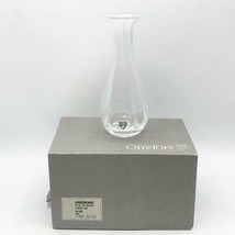 """Vintage Orrefors Anemone Crystal 9"""" Tall Flared Edge Vase Made in Sweden w/ Box - $34.64"""