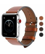 Vintage Apple Watch Bands Series 1-4 38mm 40mm 42mm 44mm Leather Strap B... - $24.69