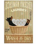 VibesPrints Laundry Doberman Pinscher Poster Art Print Funny Gift For Do... - $25.59+
