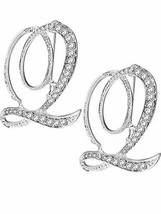 Tatuo 2 Pieces A - Z Alphabet Brooches English Letter Rhinestone Pin for... - $9.82