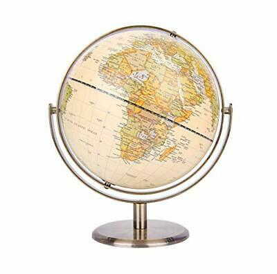 "Primary image for 8"" / 20cm World Globe Antique Globe Metal Arc and Base Bronzed Color"