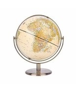 "8"" / 20cm World Globe Antique Globe Metal Arc and Base Bronzed Color - $67.77+"
