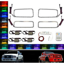 05-07 Ford F-250 Multi-Color Changing Shift LED RGB Headlight Halo Ring M7 Set - $229.95