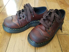 DR. MARTENS 8651 Brown Leather Lace Ankle Boots Womens Size 5 US / 4 UK  - $34.99