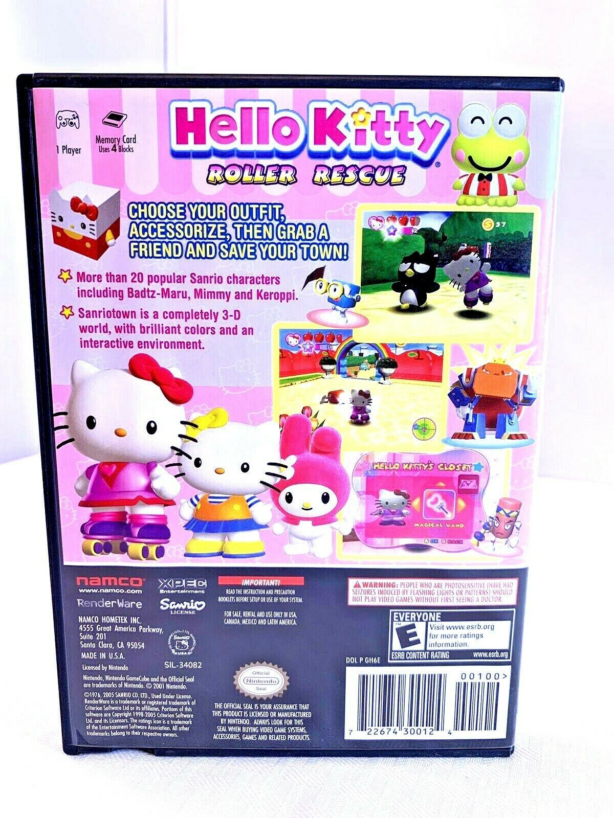 Hello Kitty: Roller Rescue (Nintendo GameCube, 2005) image 2