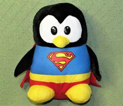 "SIX FLAGS PENGUIN SUPERMAN RED CAPE PLUSH STUFFED ANIMAL TOY 10"" SUPER H... - $24.75"